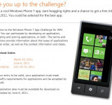 Windows Phone 7 App Challenge for WPC 2011