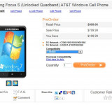 Preorder: Unocked Samsung Focus S (Windows 7 ???)