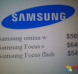 Leaked: Prices for Samsung Focus S, Focus Flash and Omnia W (updated)