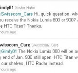 Nokia Lumia 900 Rumor No More! Available on Swisscom February 2012…