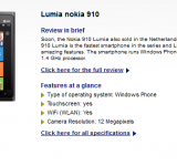 Rumored Nokia Lumia 910 Gets Pre-Order Status