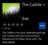 The Caddie + Golf app is Now Available (Nokia WIndows Phones Only)