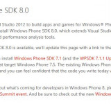 Microsoft Launches Windows Phone 8 SDK Web Page