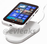 Leaked: The White Nokia Lumia 822 on Charging Pad for Verizon (pictured)