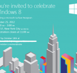 Microsoft Invites Press to Windows 8 Launch in NYC on October 25th