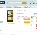 Nokia Lumia 920 is Now Available at Phone House in All Colors