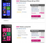 Cyber Monday: All WIndows Phones Free on T-Mobile (Including Lumia 810 & HTC 8X)
