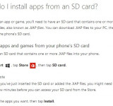 How To: Install Apps on SD Card (New Feature via WP Store Update)