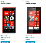 Red Nokia Lumia 720 and Lumia 520 Now Available on O2