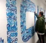 Nokia Graffitis Their Logo Comprised Of It's 400,000 Twitter Followers