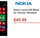 Deal: New Nokia Lumia 928 for Only $15 on Contract
