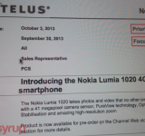 Telus: Nokia's Lumia 1020 and Lumia 625 Are on the Way