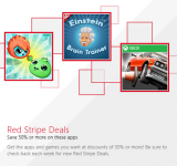 Windows Store Matches the WP Store With 'Red Stripe Deals' of their Own
