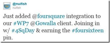 Gowalla Macropad FourSquare