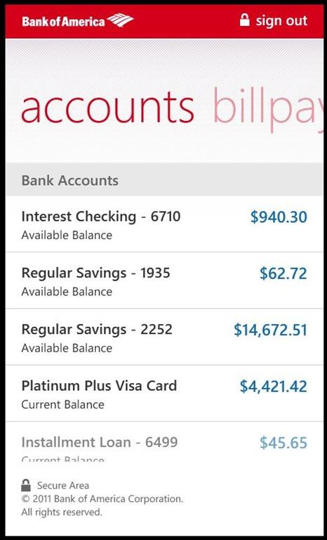 SortWare: bank account validation