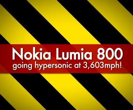 Nokia Lumia 800 Survives 3,603mph in MACH 5 Wind Tunnel (video)
