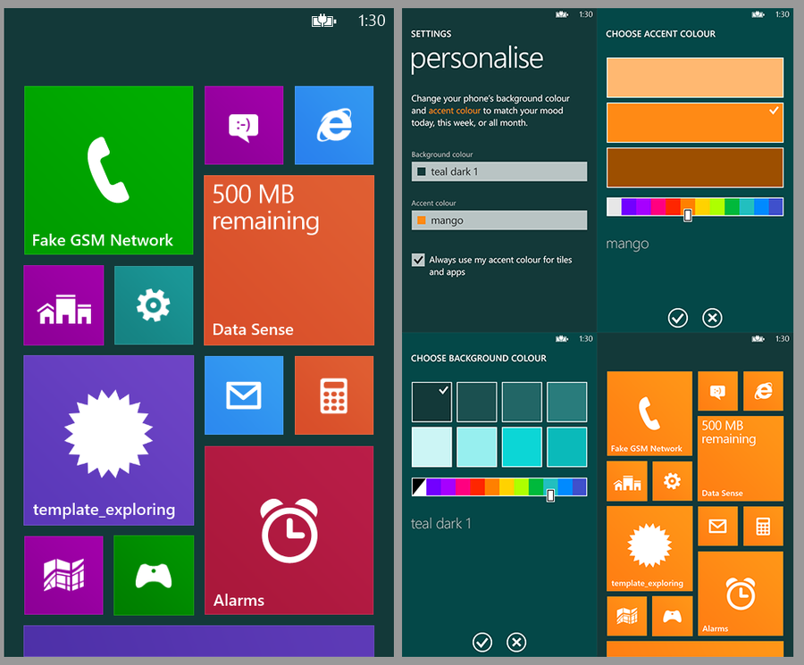 Concept art windows phone 8 1 blue personalization